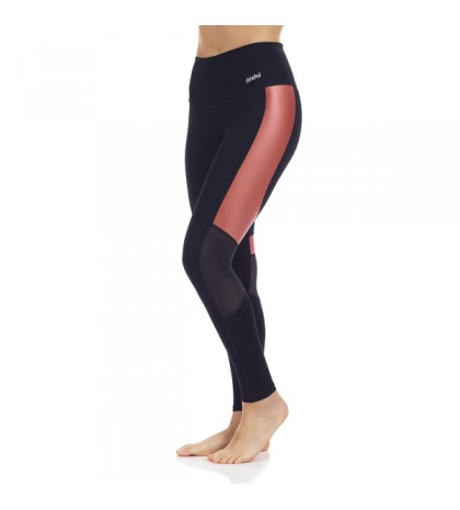 LEGGINGS DITCHIL BREAK NEGRO/SALMON BRILLO